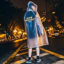 Transparent Plastic Long Raincoat Women Men Rain Coat Adult New Arrival 2019 Poncho Rainwear Impermeable Jackets 60YY113