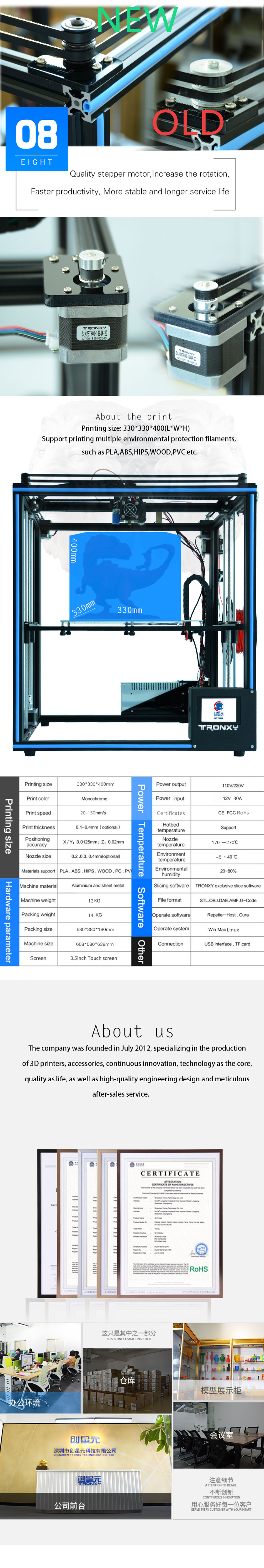Newest Design Tronxy X5SA 24V Touch Screen Auto Level DIY 3D Printer Kit  Full Metal Large Printing Size Best Photo Printer Best Photo Printers From