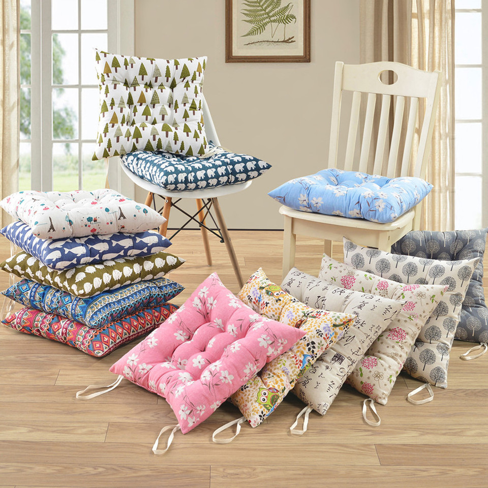 Cushions 7/7PCS Soft Tie On Seat Pads Dining Room Outdoor Garden