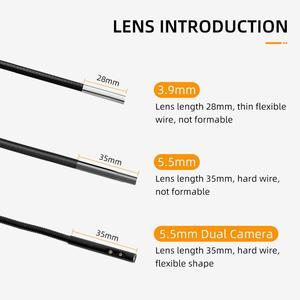 Image 5 - WDLUCKY Endoskop Kamera 4,3 zoll industrie handheld endoskop 3,9 5,5 MM HD 1080P dual lens schlange inspektion Auto werkzeug kamera