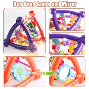 Image 4 - Toys For Baby 0 12 Months Activity Play Cube Infant Development Educational Hanging Toys Newborn Rattle Toy New Born Boy Girl