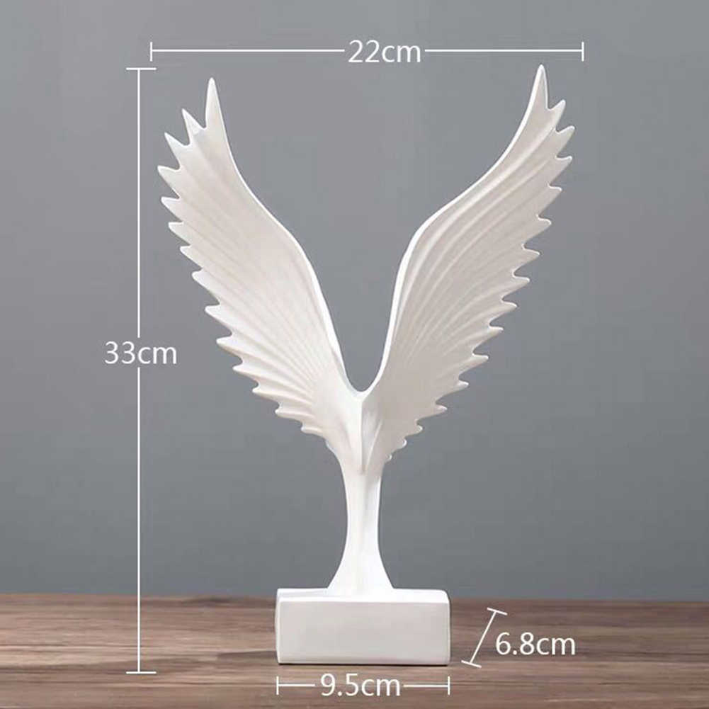 Resin Decorative Statues Simulated Abstract Open Wing Bird Statue Home Statues Animal  Sculpture Wall Art Decoration Home Decor