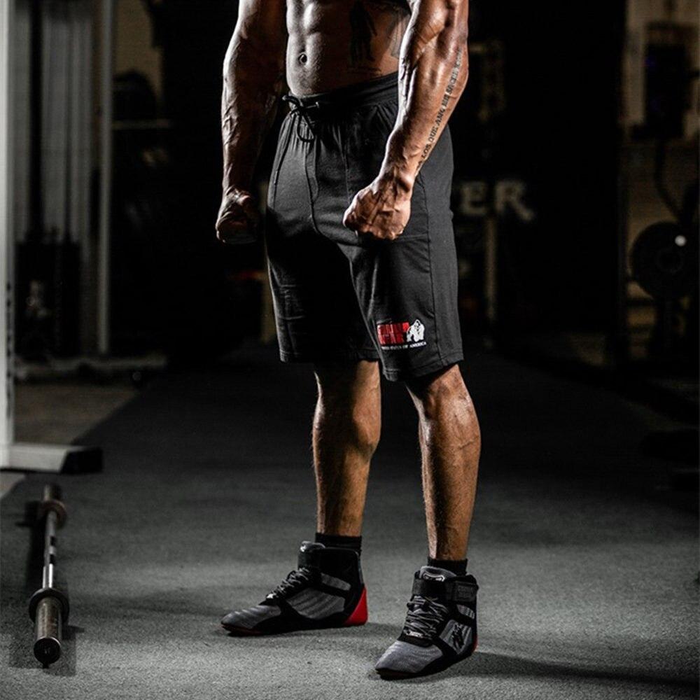 Gym Shorts Men Bodybuilding Fitness Short Pants Running Sports Workout Bermuda Male Summer Casual Print Cotton Short Sweatpants