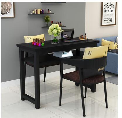 Маникюрный Стол и стул набор простой современный двойной черный маникюрный магазин стол специальная цена ретро Маникюрный Стол одиночный - Цвет: 100 cm 2 chairs