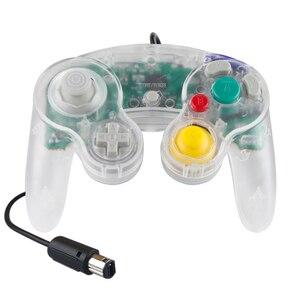 Image 2 - Joypad Gamepad cablato trasparente per Nintendo per Controller NGC utilizzato per la porta della Console del Computer MAC