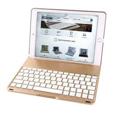"Wireless Bluetooth Keyboard Case for iPad Pro 9.7"" 7 Colors LED Backlit Gold Slim Portable For Tablet Laptop iPad Support IOS(China)"