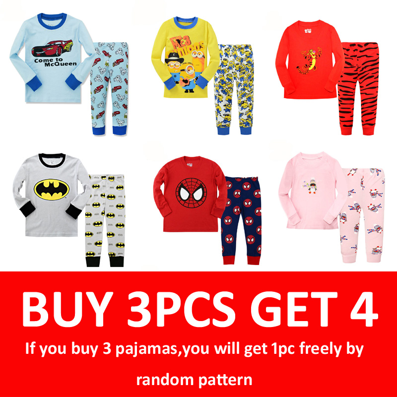 Floret lulu pijamas do miúdo define meninos spiderman algodão estilo do carro bebê crianças pijamas infantil roupas para casa da menina natal