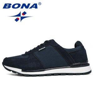 Image 4 - بونا 2020 جلد الغزال الرجال احذية الجري Zapatillas Hombre Deportiva رجل الدانتيل متابعة الركض أحذية رياضية الرجال أحذية رياضية مريحة
