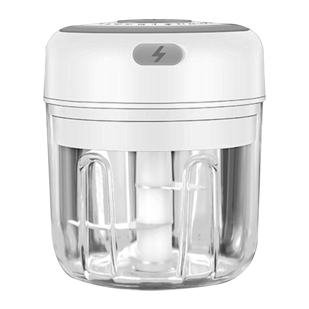 250ml-white-3 blade-Electric Garlic Crusher Food Shredder Smart USB Baby Food Supplement Machine