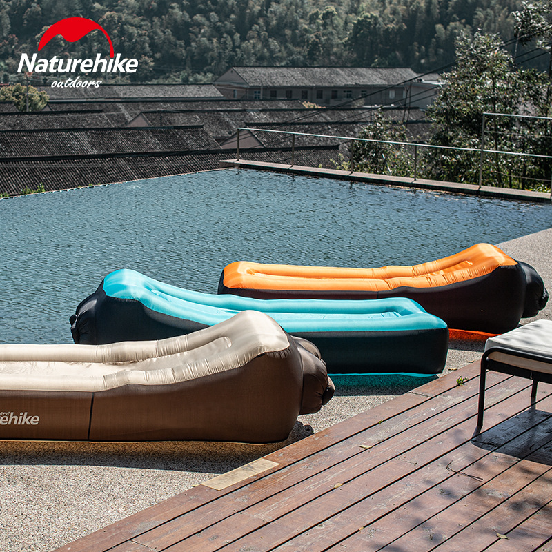 Naturehike Double Layer Thicken Outdoor Inflatable Air Sofa Bed Comfort Sleeping Bag Air Bag Lazy Bag Beach Sofa Laybag