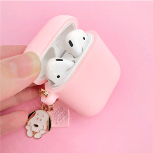 Image 2 - Cute Cartoon Dog Silicone Case for Apple Airpods Cover Case Accessories Bluetooth Earphone Headphones Protective Decor Key Ring