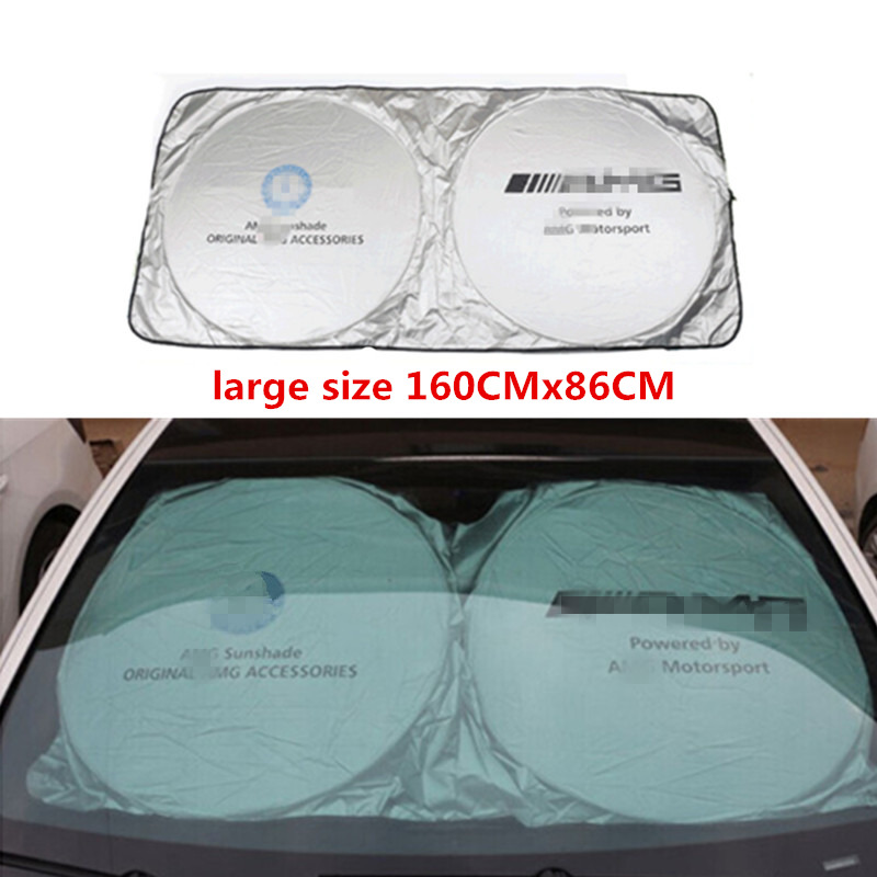 Car Accessories Car Front Sunshades Stickers For Mercedes Benz AMG W202 W220 W124 W211 W222 X204 W164 W204 W203 W210 in Windshield Sunshades from Automobiles Motorcycles