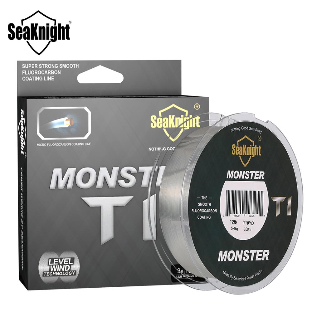 SeaKnight MONSTER T1 100% Fluorocarbon Coating Fishing Line 100M Monofilament Fishing Line Leader Line Sinking Line Carp Fishing|Fishing Lines|   - AliExpress