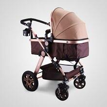 Baby Stroller Foldable Anti-Shock Newborn Stroller Golden 3 in 1 Stroller