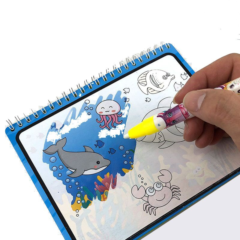 Magic Watercolor Book Kids Painting Book Water Drawing Graffiti Board Learning Early Education Toys Student Children Gifts