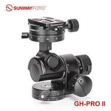SUNWAYFOTO trípode GH PRO II, pomo de palanca de cambios, cabezal panorámico, placa de liberación rápida para cámara dslr, arca swiss de cabeza panorámica