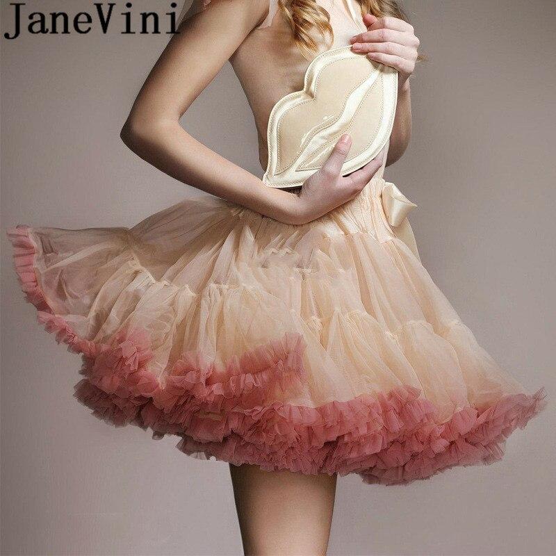 JaneVini Hot Sale Women Tutu Skirt Short Vintage Petticoats Ballet Under Wedding Dress Adult Underskirts tutu rosa adulto 2020