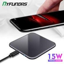 15W Ayna Kapağı Kablosuz Şarj Samsung Not 10 Artı S10 Xiaomi Mi9 Huawei P30 Pro iPhone XR X XS Max 8 Telefon Aksesuarları