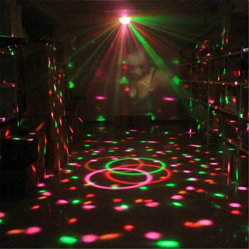 Led Disco Light Stage Lights DJ Disco Ball Sound Activated Laser Projector Effect Lamp Light Music Christmas Party 3
