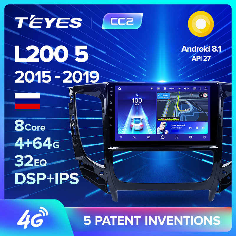 TEYES CC2 For Mitsubishi L200 5 2015 - 2019 Car Radio Multimedia Video Player Navigation GPS Android 8.1 No 2din 2 din dvd