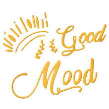 YaMinSanNiO Good Mood Letter Metal Cutting Dies New for Craft Die Scrapbooking Album Embossing Stencil Cut Decoration Gifts