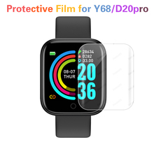1/2pcs Hydrogel Protective Film for D20 Smart Watches Protection Film Cover Screen Protector for Y68 Smart Bracelet Accessories