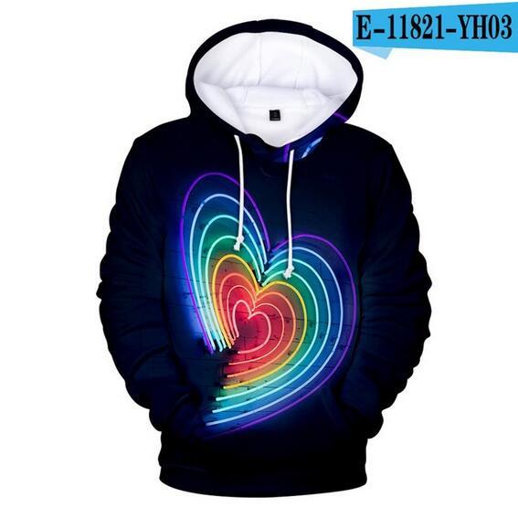 Colorful Rainbow LGBT Hoodies Sweatshirt Men Women For Lesbian Gay Pride LGBT Hoodie Fashion Casual Pullover Hooded Sweatshirts 22