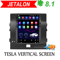Tesla Vertical screen android car gps multimedia radio player in dash for Toyota Land Cruiser 200 car navigation stereo 2008+
