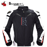 GHOST RACING Waterproof Motorcycle Jacket Men Riding Jacket Breathable Motorbike Moto Clothing With Neck Protector Body Armor