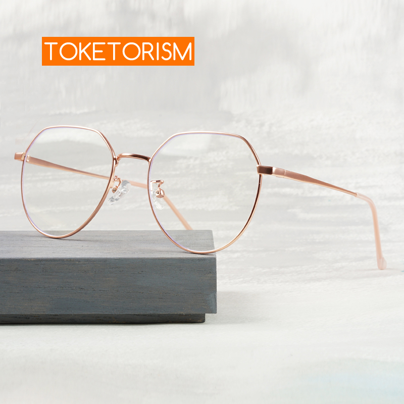 Toketorism Fashion Women's Glasses 2020 Blue Light Glasses Optical Eye Glasses Frames For Men