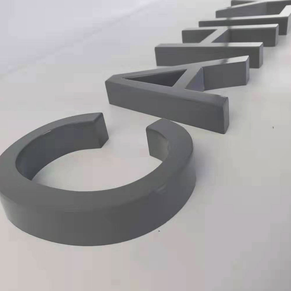 Outdoor/indoor 3D No Lighted Advertising Stainless Steel Letter Sign For Decoration