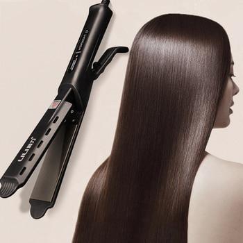 31mm professional 2 in 1 twist hair curling ceramic plate hair straightener hot air styler titanium straightener loof jr 198 1 mini hair styler straightener pink