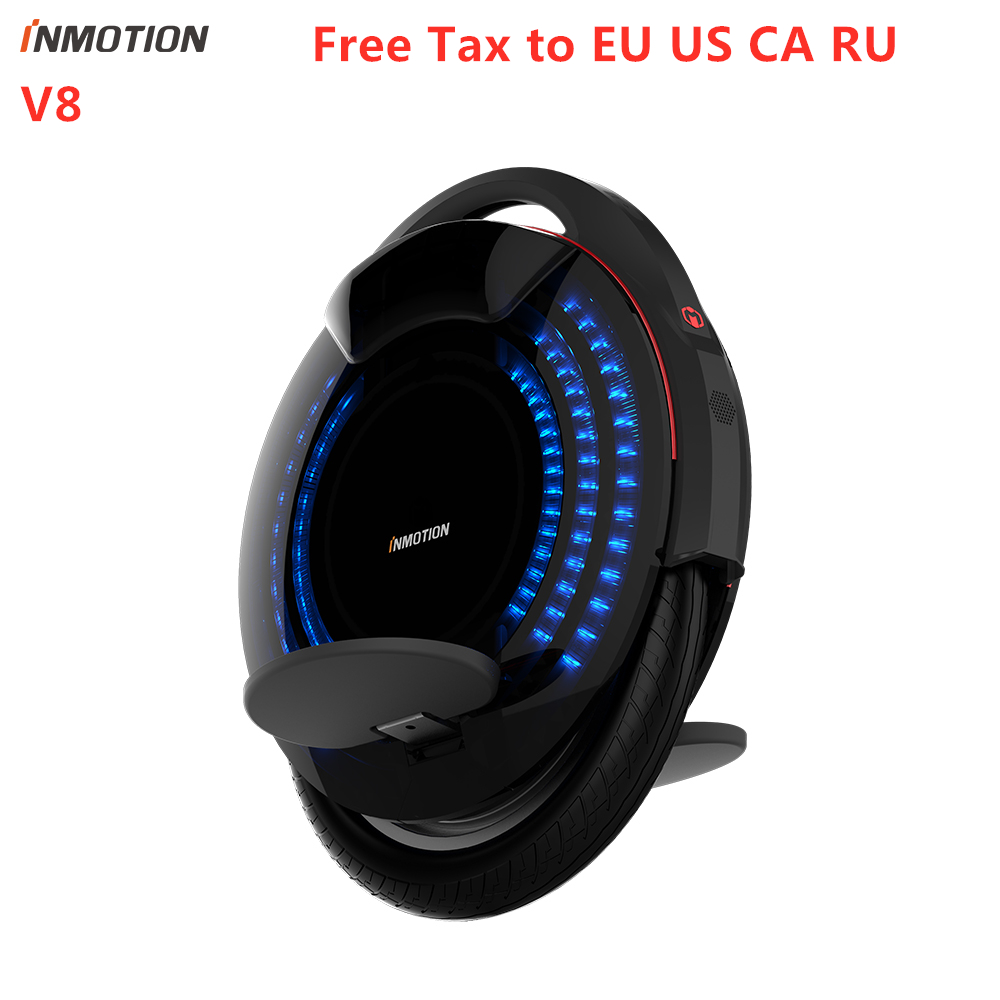 Original INMOTION V8 Unicycle One Wheel Electric Hover Skate Self Balancing Scooter With Decorative Lamps Monowheel Hover Board