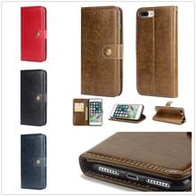 for iPhone X XS De luxe Wallet Case 8 7 Plus 6 6S Flip Leather Cover Vintage Luxury Fundas Apple 5 5S se Card PU CAPA