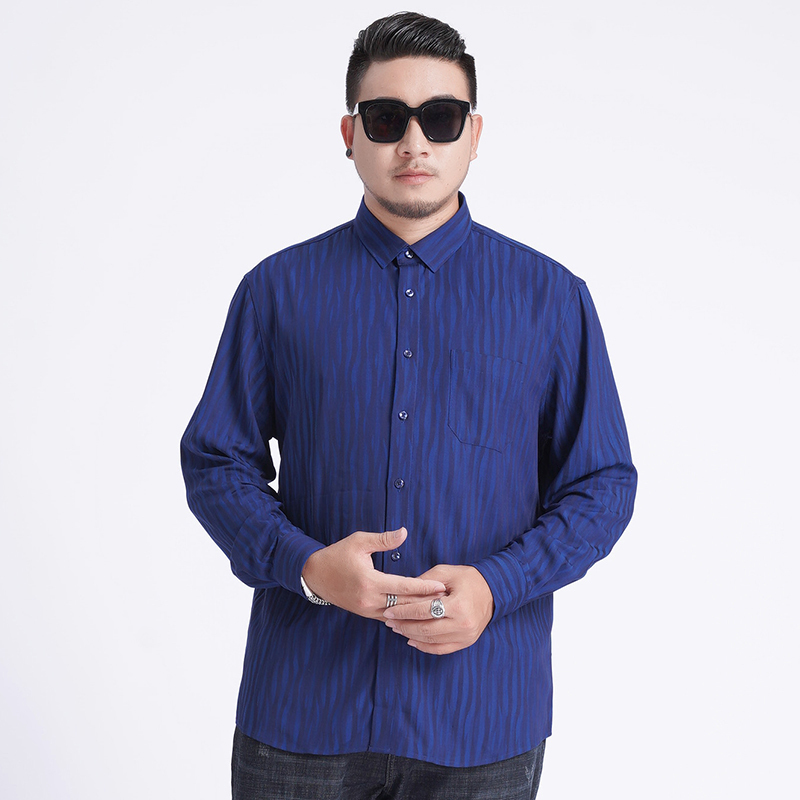 2020 New Arrival Mens High Quality Mens Formal Shirts Long Sleeve Super Large Obese Plus Size 6XL 7XL 8XL Fashion And Leisure
