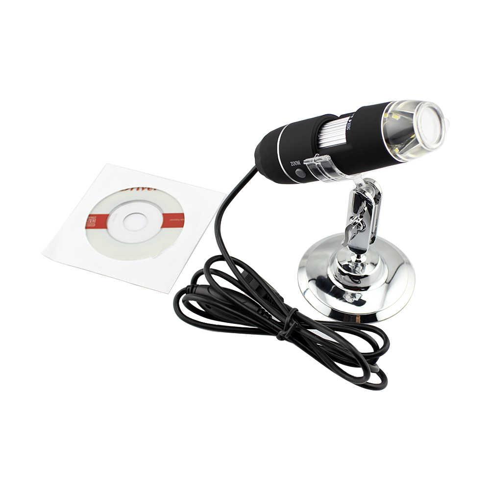 อุปกรณ์เสริมอิเล็กทรอนิกส์ 50X-500X USB กล้องจุลทรรศน์ดิจิตอลแบบพกพา PCB บอร์ดไร้สายกล้องจุลทรรศน์นักเรียน DIY Tester