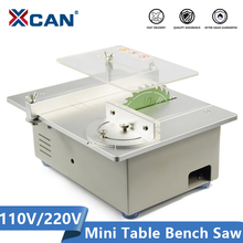 XCAN Electric Bench Saw 110V 220V DIY Hobby Model Crafts Cutting Tool With 4''(110mm) Circular Saw Blade Power Tools Mini Table