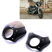 For Sportster XL883 XL1200 Road King Electra Glide Dyna Motorcycle Headlight Fairing Cowl Fork Front Custom Mask  7