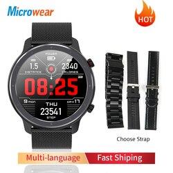 Новое поступление Microwear L11 Смарт-часы Полный сенсорный Экран спортивные трекер сердечного ритма bluetooth Водонепроницаемый IP68 мужские умные ча...