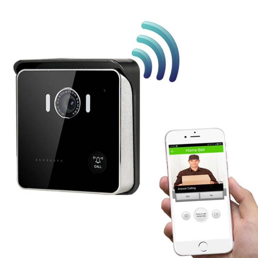 WiFi Video Doorbell, HD Doorbell Camera Wireless Real-Time Video with <font><b>Speaker</b></font>, Motion Detector, Night Vision, Remote Unlock image