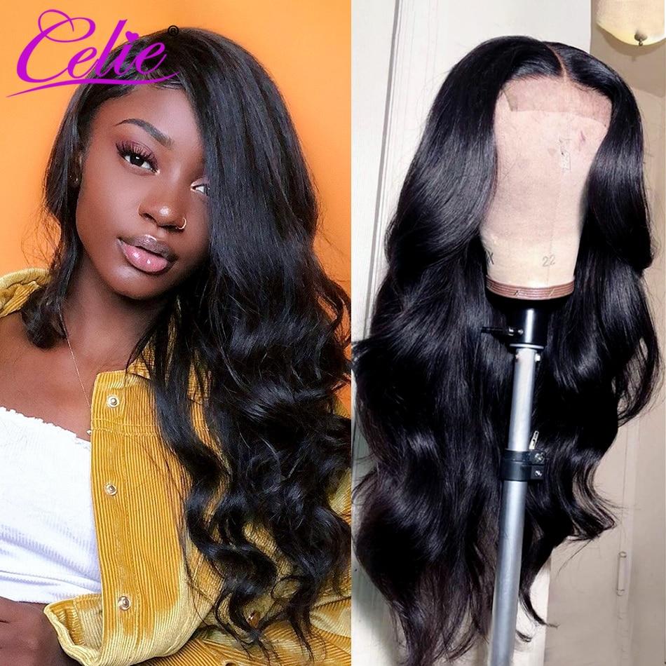 Парик Celie с волнистыми волосами, парик с застежкой 4X4, дешевые парики из человеческих волос для женщин, бразильский парик на сетке с детскими ...