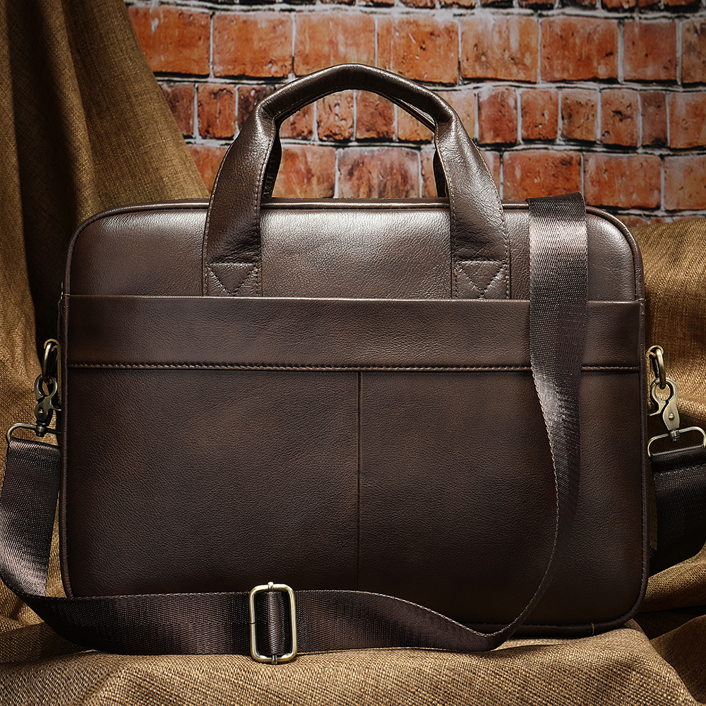 Men Briefcase Genuine Leather Office Bags For Men Laptop Bag Leather Messenger Bag Man Business Mens Briefcases Men's Bags  7022