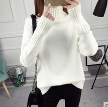 2019 autumn and winter womens sweater loose high collar long-sleeved versatile plus thick