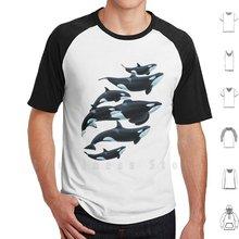 Florida orcas t camisa tamanho grande 100% algodão orca assassino baleia baleias baleias baleia golfinho marineland seaworld mar mundo