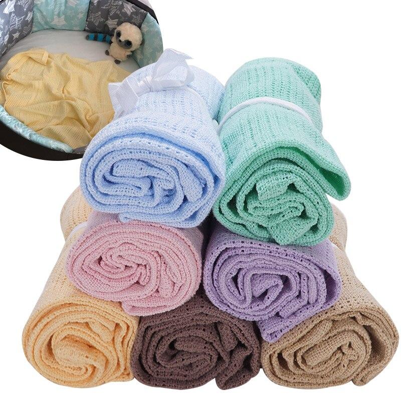 Couvertures de poussette de bébé en coton | Livraison directe, accessoires de photographie pour nouveau-né solide mousseline lange emmaillotage serviette de bain pour bébés