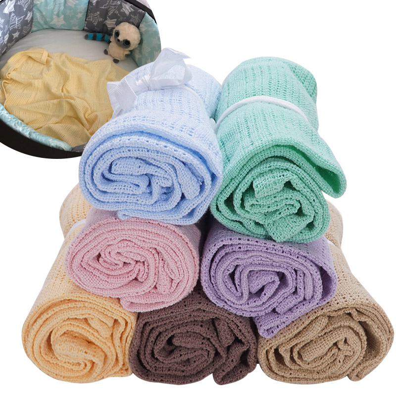 Dropshipping Infantil Cotton Baby Stroller Blankets Newborn Photography Props Solid Muslin Swaddle Wrap Baby Stuff Bath Towel