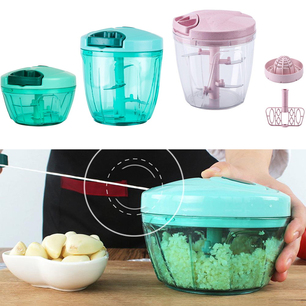 Manual fruit vegetable chopper hand pull food cutter onion nuts grinder mincer shredder multifunction kitchen gadgets dropship