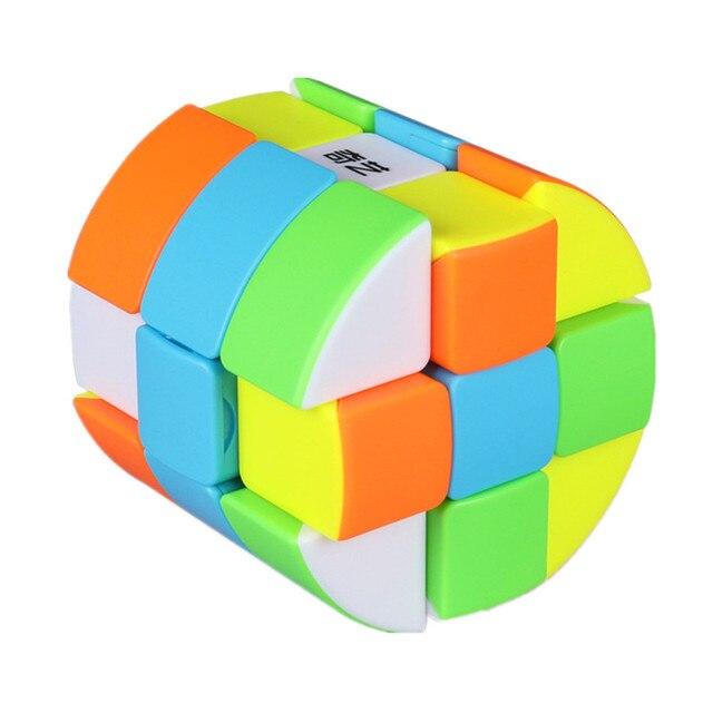 Qiyi Barrel Cube 3x3x3 Stickerless Strange-Shape Magic Cube Twisty Mgaic Cube Learning&Educational Puzzle Toys 4