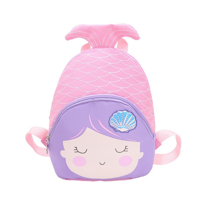 Kids Girl Mermaid Backpack Cute Gift Mini Travel Bag Bling Sequins Mermaid  Small Zipper Rucksack For School
