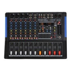 Image 1 - LOMOEHO AM 08 4 Mono + 2 Stereo 8 Kênh Bluetooth USB Giao Diện Máy Tính Kỷ Lục Phantom 48V Chuyên Nghiệp DJ Trộn Âm Thanh